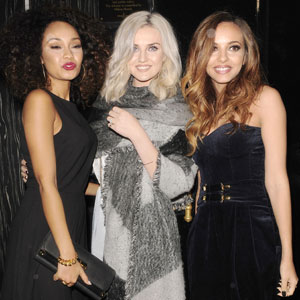 'Little Mix' arriving at Whisky Mist nightclub following their performance on the X Factor, 3 November 2013