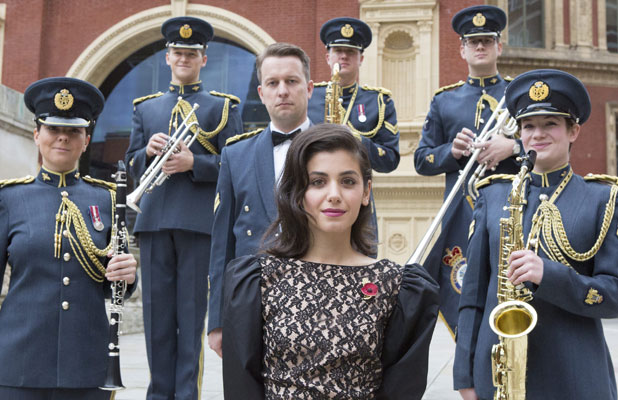 Katie Melua at rehearsals for Royal British Legion Festival of Remembrance, 8 November 2013