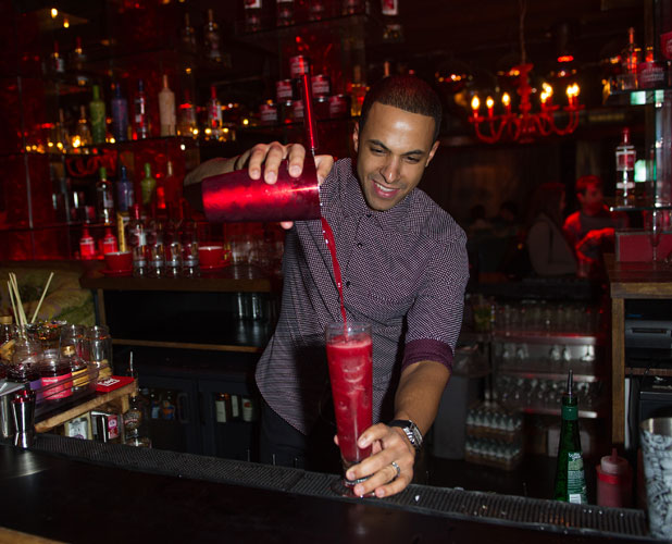 Marvin Humes hosts a cocktail making evening in London, 6 November 2013