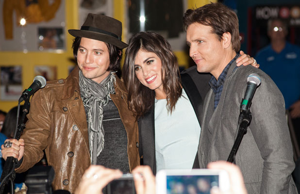 Peter Facinelli, Nikki Reed and Jackson Rathbone, Twilight Forever Fan Experience Exhibit at Planet Hollywood, 4 November 2013
