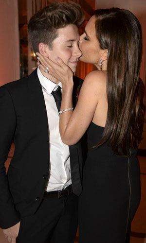 Harper's Bazaar 'Woman of the Year' awards 2013, London, Britain - 05 Nov 2013 Brooklyn Beckham and Victoria Beckham
