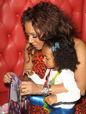 Mel B and daughter Madison at the Grand Opening Of Sugar Factory Hollywood, Nov 13.