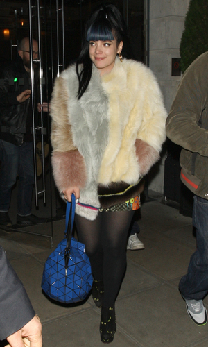 Lily Allen leaves Hotel Edition in London at 3am, Nov. 13