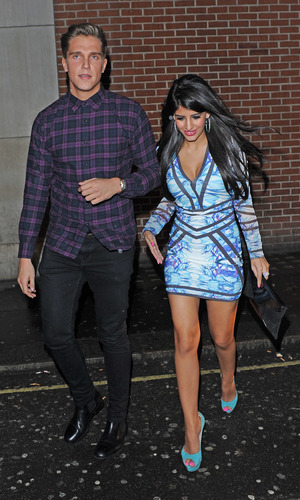 TOWIE series 10 Wrap Party held at Bubble Bar - Departures Lewis Bloor, Jasmin Walia 11/14/2013. London, United Kingdom