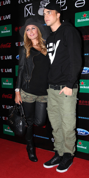 Paris Hilton and River Viiperi attends Storm Electronic Music Festival in Shanghai, China - 16 Nov 2013