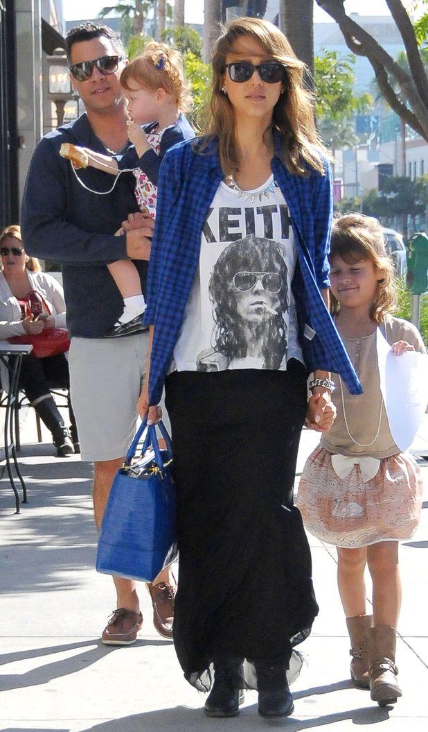 Jessica Alba in LA with family 10/11/13