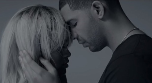 Drake and Rihanna touch heads in video for 'Take Care' - 2011