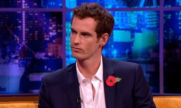 Andy Murray on The Jonathan Ross Show. (9 November)