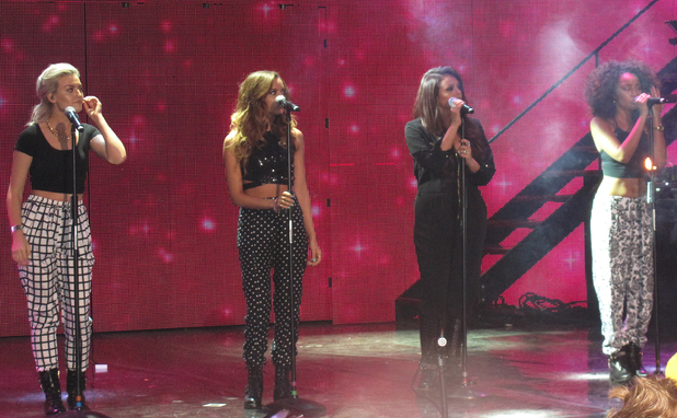Children in Need Rocks concert at Hammersmith Apollo - Performance. Perrie Edwards, Jade Thirlwell, Jesy Nelson, Leigh-Ann Pinnock 11/12/2013