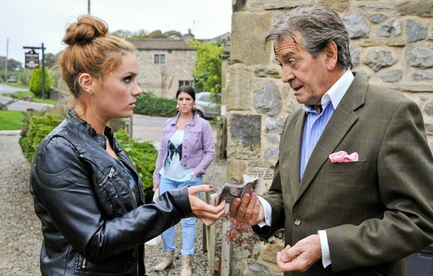 Emmerdale, Amy sells Rodney the necklace, Tue 12 Nov
