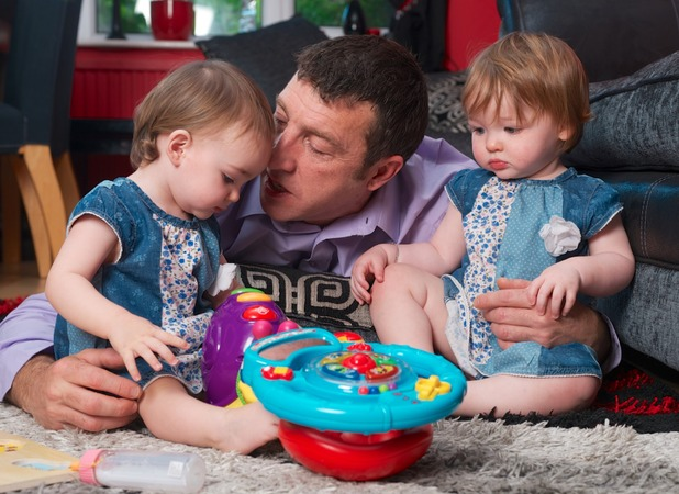 The couple received £44,000 for their twin girls