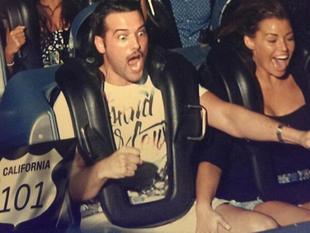 Jess Wright and Ricky Rayment on roller coaster in Florida at Disney World - 12.11.2013