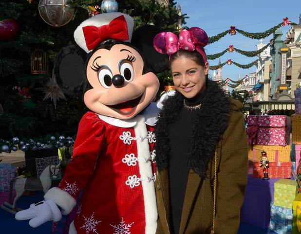 Made in Chelsea's Louise Thompson enjoying the Enchanted Christmas celebrations at Disneyland Paris - 9.11.2013