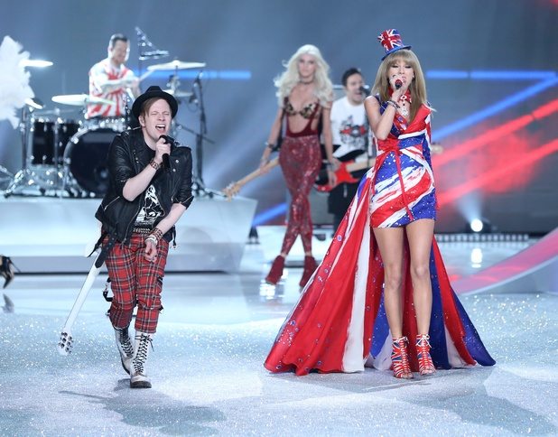 Victoria's Secret Fashion Show, New York, America - 13 Nov 2013 Fall Out Boy and Taylor Swift on the catwalk