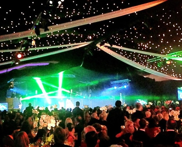 Kimberley Garner tweets a picture of the Chain of Hope Annual Ball - 14 November 2013