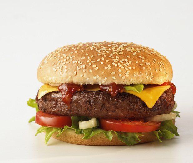 Cheeseburger On White Background 2013