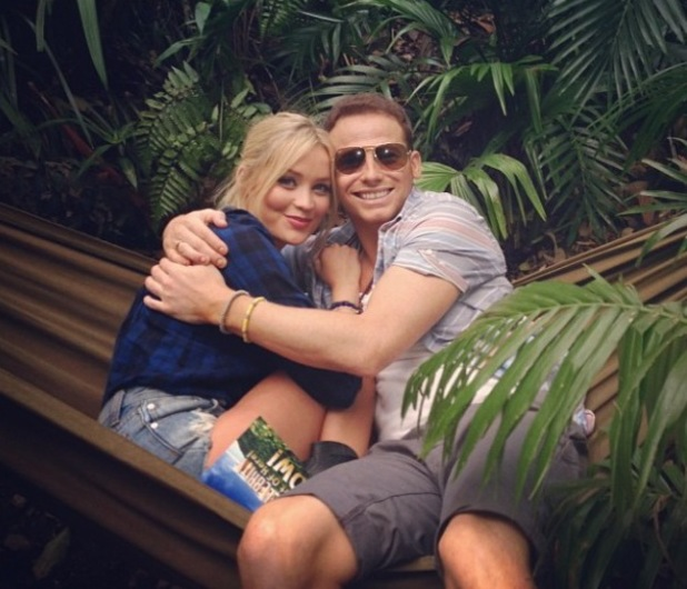 Laura Whitmore and Joe Swash in the jungle for I'm A Celebrity... Get Me Out Of Here!