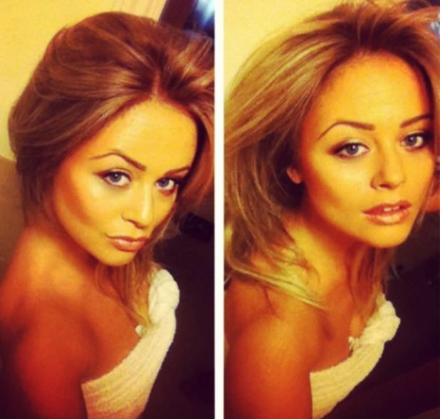 Emily Atack gets her hair dyed darker than usual, shares pic on instagram, Nov 2013