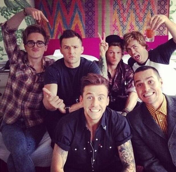 Danny Jones of McFly, Dougie Poynter of McFly, Matt Willis of Busted, James Bourne of Busted, Tom Fletcher of McFly and Harry Judd of McFly at 'The Hunger Games: Catching Fire' afterparty - 11.11.2013