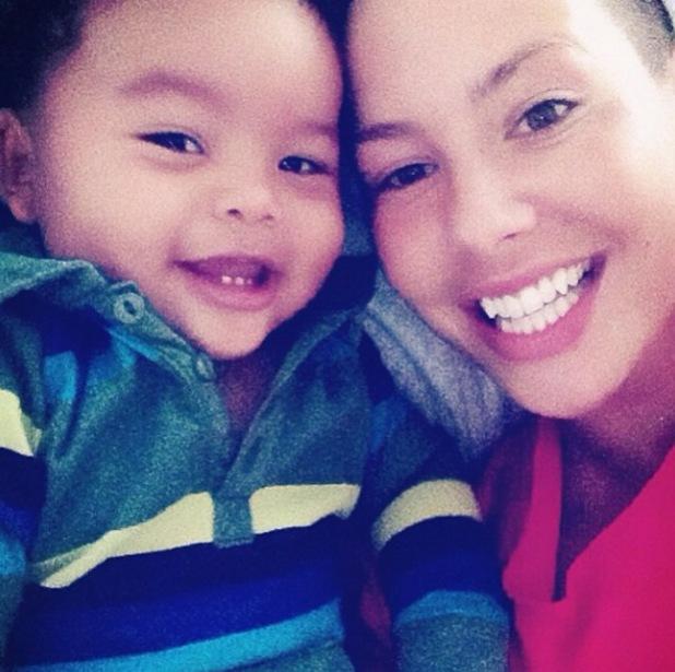 "Amber Rose and 8-month-old son Sebastian ""Bash"" Taylor - 5.12.2013"