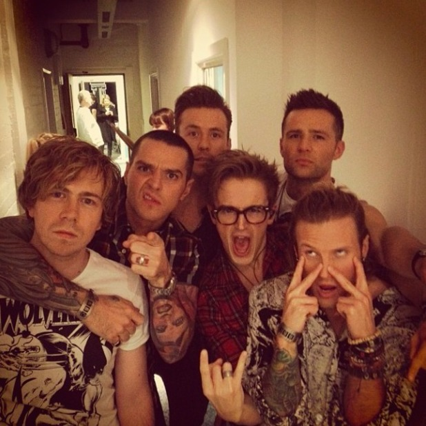 McBusted tweet excited picture before they perform on Children In Need 2013 for the first time since forming as a supergroup, November 15 2013