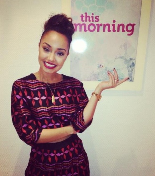 Leigh-Anne Pinnock tweets a backstage picture before performing on This Morning - 15 November 2013