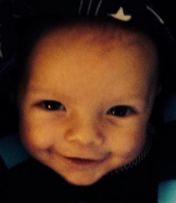 Fergie posts photo of son Axl to celebrate Josh Duhamel's birthday.