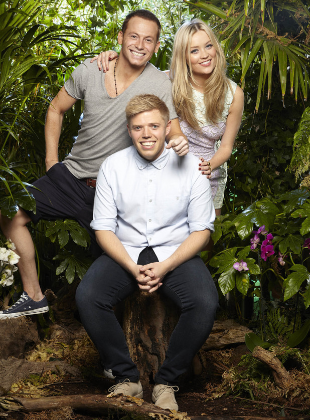 I'M A CELEBRITY.. GET ME OUT OF HERE NOW! Joe Swash, Rob Beckett and Laura Whitmore