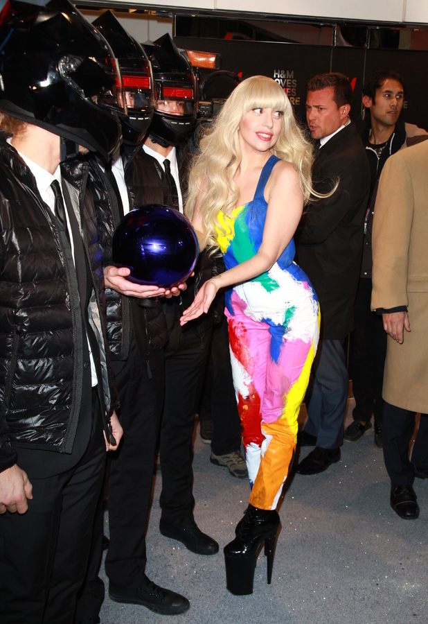 Lady Gaga opens the new H&M store in Times Square, New York - 13 November 2013