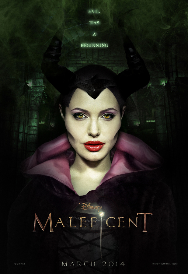 Angelina Jolie as Mistress Of All Evil in the Movie artwork for 'Maleficent', 2014, directed by Robert Stromberg