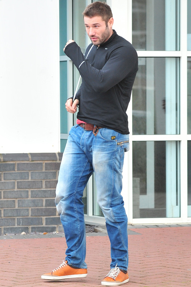 Ben Cohen arrives in Blackpool for Strictly Come Dancing, Nov 13