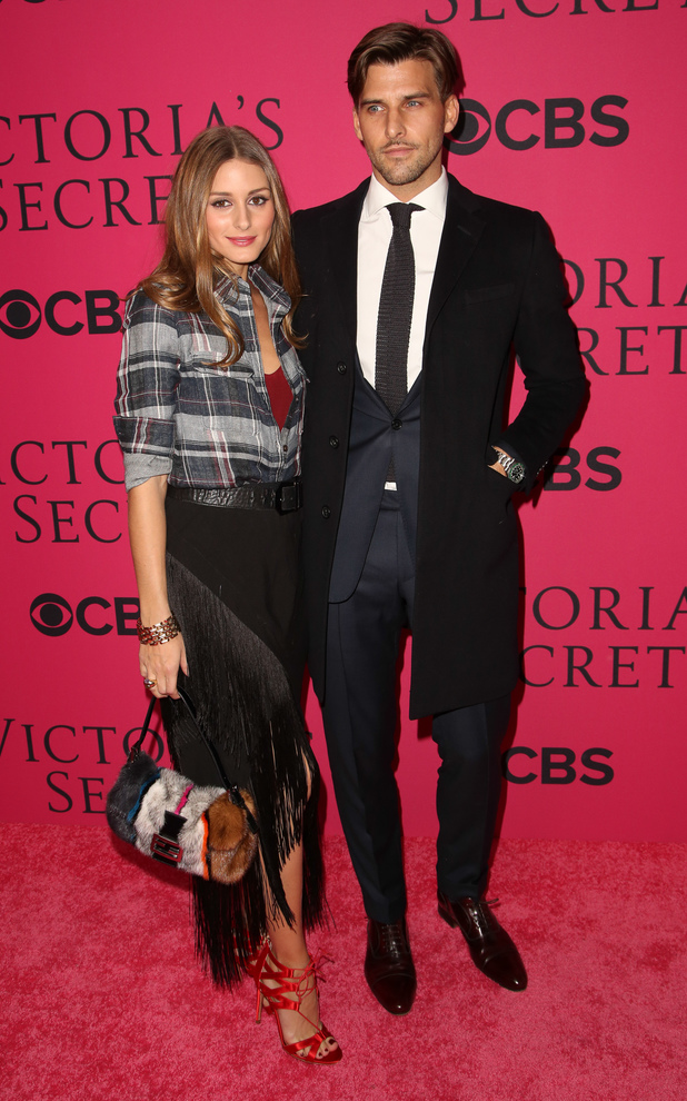 Olivia Palermo and Johannes Huebl at the 2013 Victoria's Secret Fashion Show at Lexington Avenue Armory - 13 November 2013