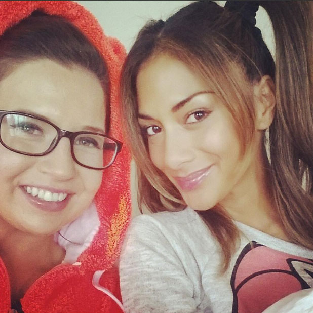 Abi Alton and Nicole Scherzinger pose for a selfie, tweeted 12 November 2013