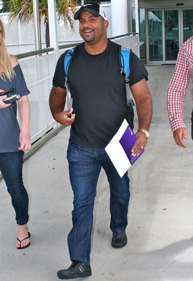 Alfonso Ribeiro, 'I'm a Celebrity Get Me Out of Here' TV show arrivals, Brisbane International Airport, Australia - 13 Nov 2013