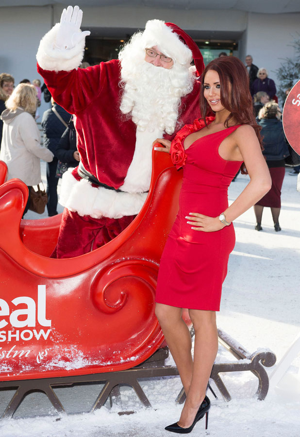 Amy Childs, Ideal Home Show at Christmas opening day, Earls Court, London, Britain - 13 Nov 2013