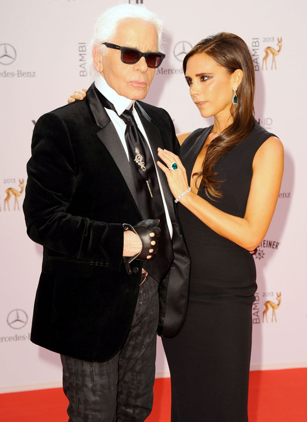 Victoria Beckham and Karl Lagerfeld, Bambi 2013 awards at Musical Theater am Potsdamer Platz theatre - Red Carpet, 14 November 2013