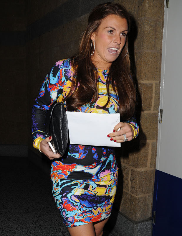 Coleen Rooney arrives at the Phones 4 U Arena in Manchester to watch the Stereophonics, 14 November 2013