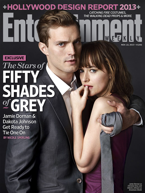 Entertainment Weekly magazine cover featuring Jamie Dornan and Dakota Johnson from Fifty Shades Of Grey, November 2013