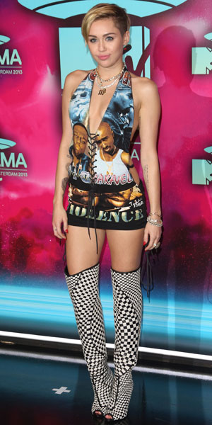 Miley Cyrus, 20th MTV Europe Music Awards held at Ziggo Dome - Arrivals, 10 November 2013