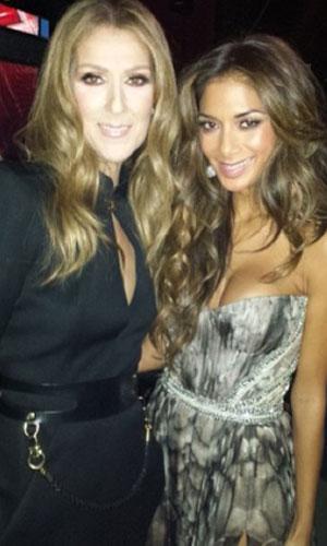 Nicole Scherzinger meets Celine Dion on X Factor results show, 10 November 2013