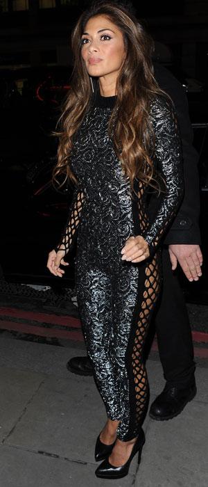 Nicole Scherzinger arriving at Sushi Samba for their 1 year anniversary, 12 November 2013