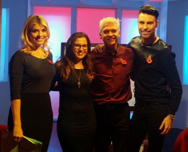 Abi Alton appears on This Morning with Rylan Clark, Holly Willoughby, Phillip Schofield, 11 November 2013