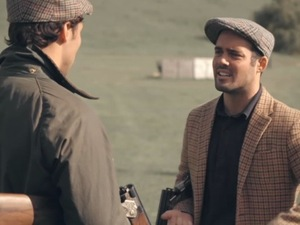 Made In Chelsea's Spencer Matthews invites Andy Jordan to go shooting. Episode Monday 18 November 2013.