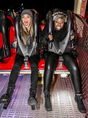 'The X Factor' finalists visit Hyde Park Winter Wonderland, London, Britain - 21 Nov 2013 Hannah Barrett and Nicole Scherzinger