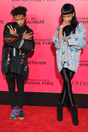 'The Hunger Games: Catching Fire' film premiere, Los Angeles, America - 18 Nov 2013 Jaden Smith and Willow Smith