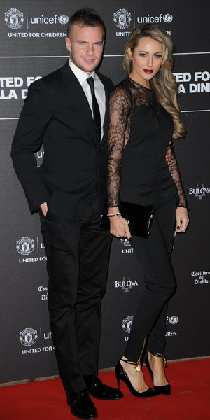Georgina Dorsett and Tom Cleverly at UNICEF Gala Dinner at Old Trafford, Manchester - 21 November 2013
