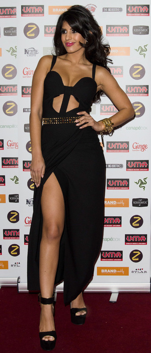 Jasmin Walia attends Urban Music Awards 2013 held at Porchester Hall, 22 November