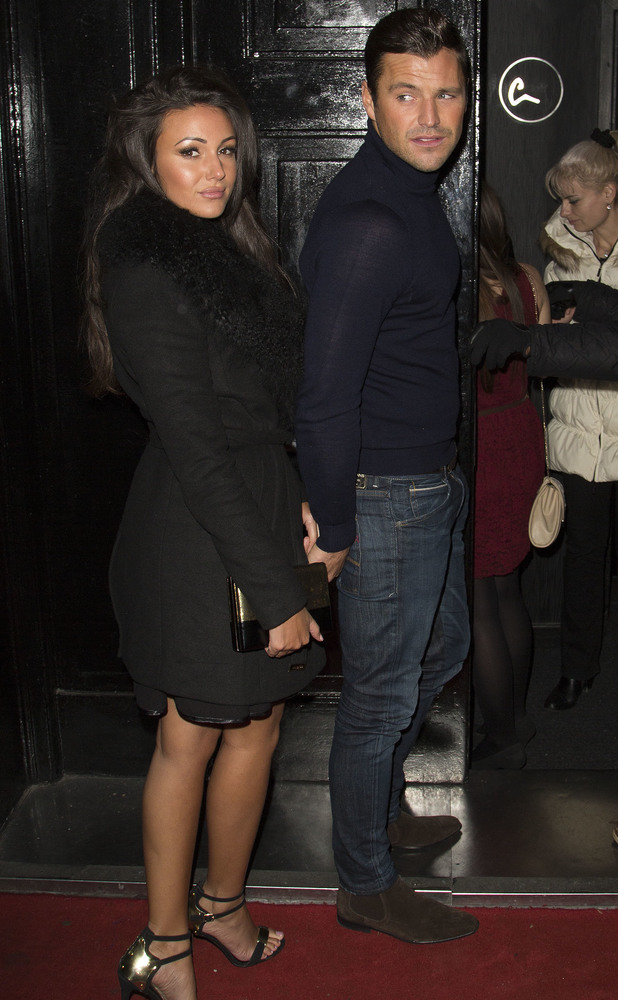 Mark Wright and Michelle Keegan attend the 9 Swallow Street launch party, 22 November 2013
