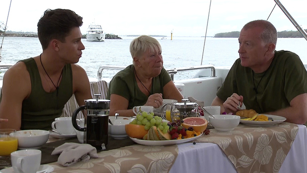 I'm A Celebrity... Get Me Out Of Here!, Shown on ITV1 HD Joey Essex, Laila Morse, Steve Davis (17/11/13)