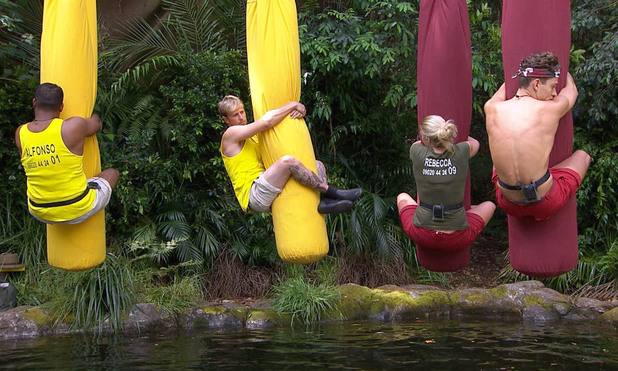 I'M A CELEBRITY GET ME OUT OF HERE.Kian Egan, Alfonso Ribeiro, Joey Essex and Rebecca Adlington in task.